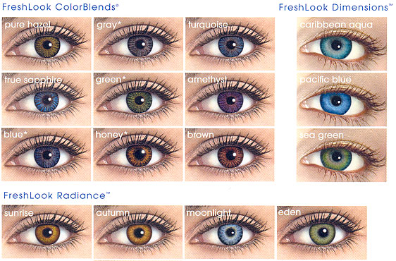 contact lens types - Colored Contacts Hazel